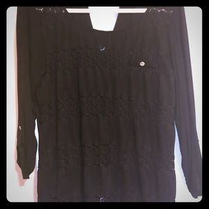 Maurice's black lace shirt